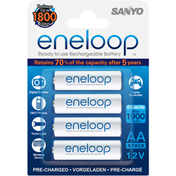 PILES RECHARGEABLES Eneloop NiMH AA HR6 1.2V 1900mAh x4