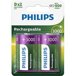 PILES RECHARGEABLES HR20 D 1.2V 3000mAh NIMH x2