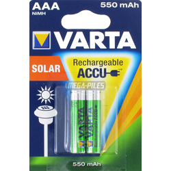 PILES RECHARGEABLES HR03 1.2V 550mAh NiMH Ready to Use x2 VARTA