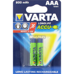 PILES RECHARGEABLES HR03 1.2V 800mAh NiMH Ready to Use x2 VARTA