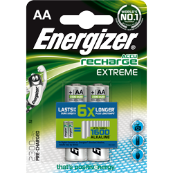 PILES RECHARGEABLES NiMH AA HR6 1.2V 2300mAh x2 ENERGIZER
