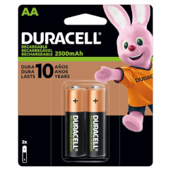 Piles rechargeables NiMH AA HR6 1.2V 2500mAh BL2 DURACELL
