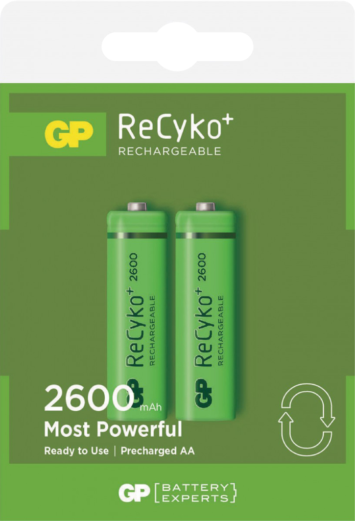 PILES RECHARGEABLES NiMH AA HR6 1.2V 2600mAh BL2