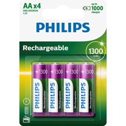 PILES RECHARGEABLES NiMH AA HR6 READY TO USE 1.2V 1300mAh x4