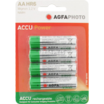 PILES RECHARGEABLES NiMH AA HR6 1.2V 2300mAh ACCU POWER x4