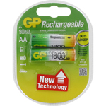 PILES RECHARGEABLES NiMH AA HR6 1.2V 1800mAh x2 GP