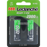 PILES RECHARGEABLES NiMH AA LR6 1.2V 2000mAh x2