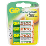 PILES RECHARGEABLES NiMH AA HR6 1.2V 2100mAh x4 GP