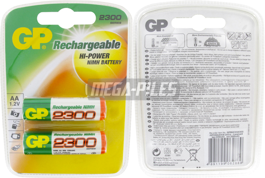 PILES RECHARGEABLES NiMH AA HR6 1.2V 2200mAh x2