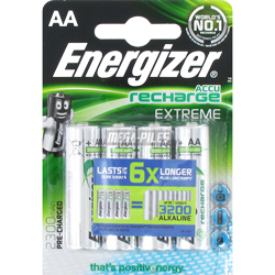 PILES RECHARGEABLES NiMH AA LR6 1.2V 2300mAh x4