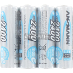 PILES RECHARGEABLES NiMH AA HR6 1.2V 2400mAh SHRINK x4