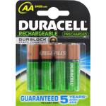 PILES HR6 RECHARGEABLES NiMH AA 1.2V 2400mAh x4 DURACELL