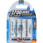 PILES RECHARGEABLES NiMH AA LR6 1.2V 2700mAh x4