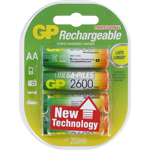 PILES RECHARGEABLES NiMH AA HR6 1.2V 2550mAh x4