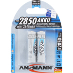 PILES RECHARGEABLES NiMH AA LR6 1.2V 2850mAh x2