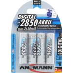 PILES RECHARGEABLES NiMH AA LR6 1.2V 2850mAh x4
