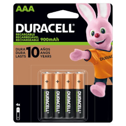 Piles rechargeables NiMH AAA HR03 1.2V 900mAh BL4 DURACELL