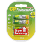 PILES RECHARGEABLES NiMH AAA HR03 1.2V 950mAh x4 GP