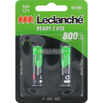 PILES RECHARGEABLES NiMH AAA LR03 1.2V 800mAh x2 LECLANCHE