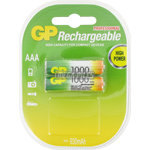 PILES RECHARGEABLES NiMH AAA HR03 1.2V 930mAh x2 GP