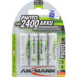 PILES RECHARGEABLES NiMH PHOTO AA LR6 1.2V 2400mAh x4