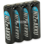 PILES RECHARGEABLES NiZn AAA LR03 1.6V 900mWh 550mAh x4