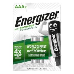 Piles rechargeables Power Plus HR03 1.2V 700mAh NiMH BL2