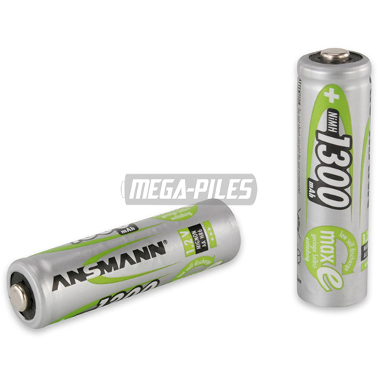 PILES RECHARGEABLES PRECHARGEES NiMH AA HR6 1.2V 1300mAh x1