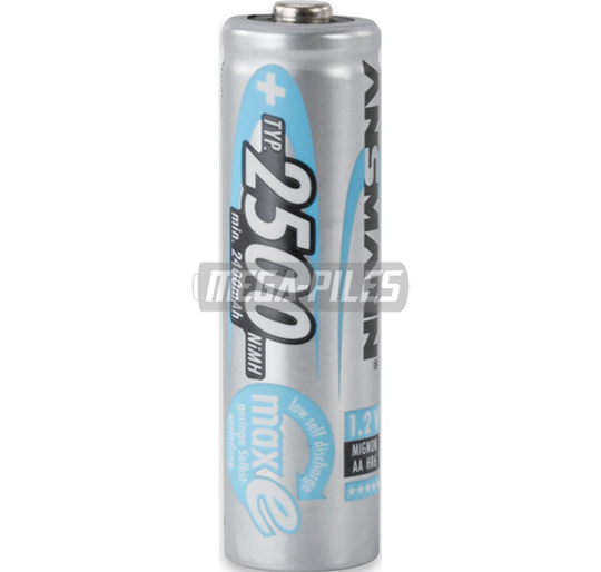 PILES RECHARGEABLES PRECHARGEES NiMH AA LR6 1.2V 2500mAh x1