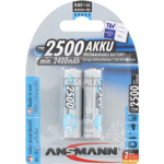 PILES RECHARGEABLES PRECHARGEES NiMH AA LR6 1.2V 2400mAh x2