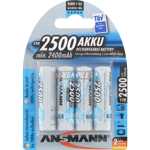 PILES RECHARGEABLES PRECHARGEES NiMH AA LR6 1.2V 2500mAh x4