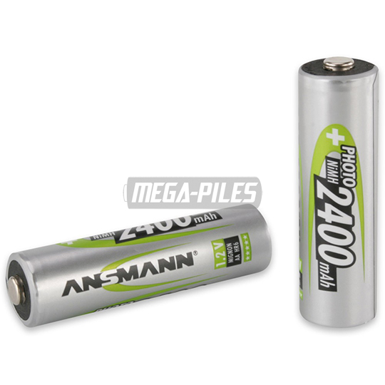 PILES RECHARGEABLES PRECHARGEES PHOTO NiMH AA LR6 1.2V 2400mAh x1