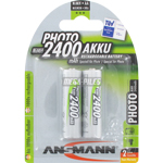 PILES RECHARGEABLES PRECHARGEES PHOTO NiMH AA LR6 1.2V 2400mAh x2 ANSMANN