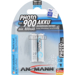 PILES RECHARGEABLES PRECHARGEES PHOTO NiMH AAA HR03 1.2V 800mAh BL2 ANSMANN