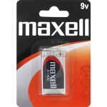 PILES SALINES 9V 6F22 CARBONE ZINC x1 MAXELL