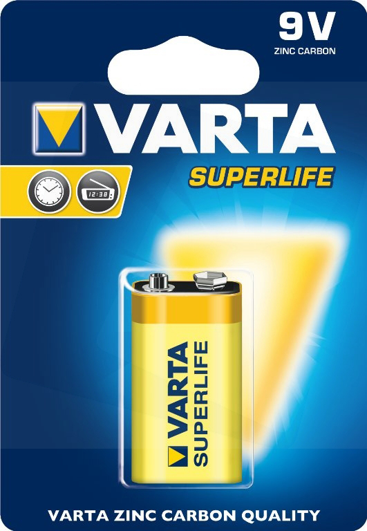 Taohou 1 Pc HUATAI 6F22 9V Haute capacit/é Batterie au Carbone-Zinc-Zinc-mangan/èse Sec Orange et Argent