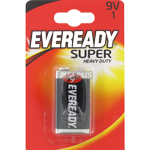 PILES SALINES 9V 6F22 HEAVY DUTY CARBONE ZINC x1 EVEREADY