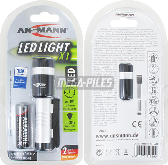 TORCHE ALUMINIUM 101mm LED