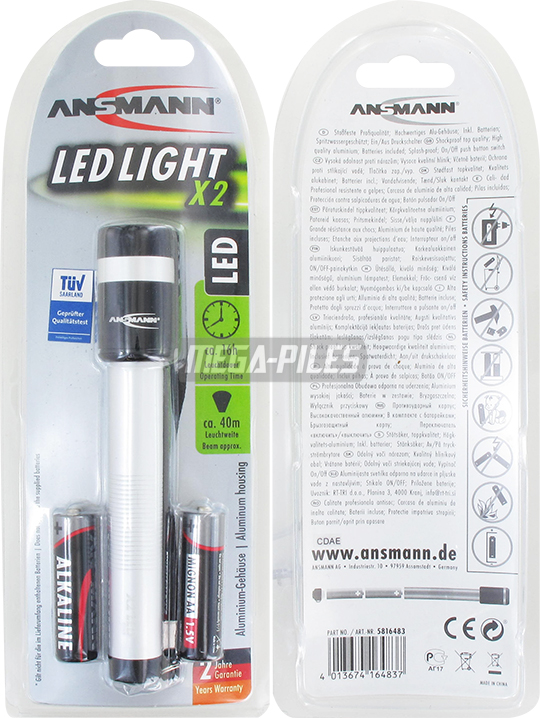 TORCHE ALUMINIUM 150mm LED