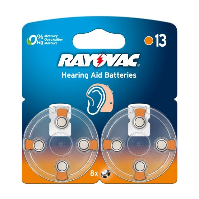 PILE BOUTON AUDITIVE 13 1.4V 310mAh RAYOVAC
