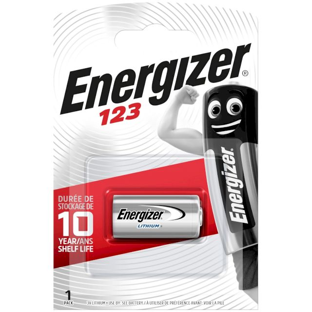 PILE 123 CR123A LITHIUM PHOTO 3V 1500mAh BL1 ENERGIZER