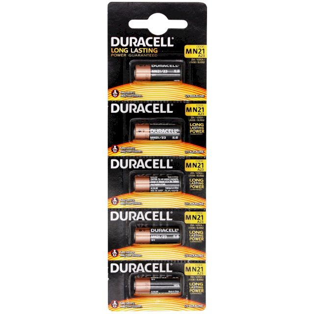 Piles MN21-23 alcalines 23A 12V BL5 DURACELL