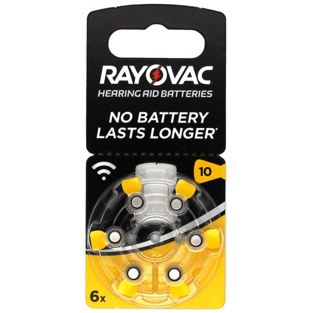 PILES 10 AUDITIVES 1.4V 105mAh RAYOVAC