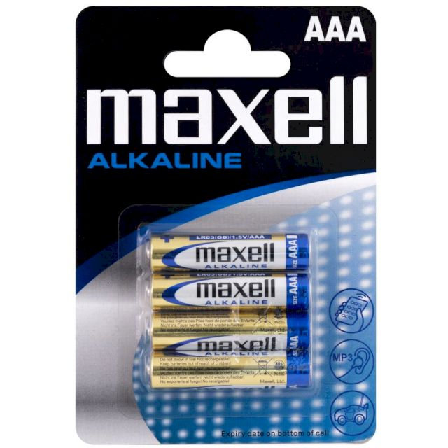 PILES LR03 ALCALINES AAA MN2400 1.50V BL4 MAXELL