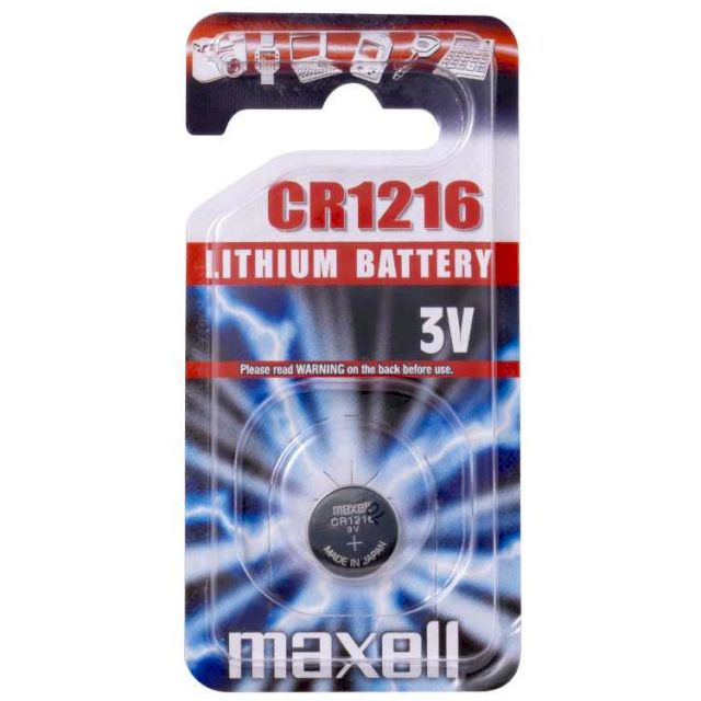 PILES BOUTON LITHIUM CR1216 3V BL1 MAXELL