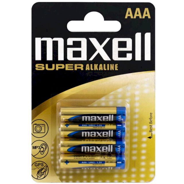 PILE SUPER ALCALINE R03 AAA 1.5V x4 MAXELL