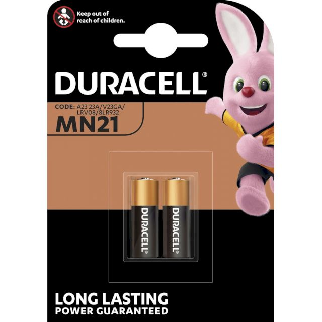 Piles MN21-23 alcalines 23A 12V DURACELL