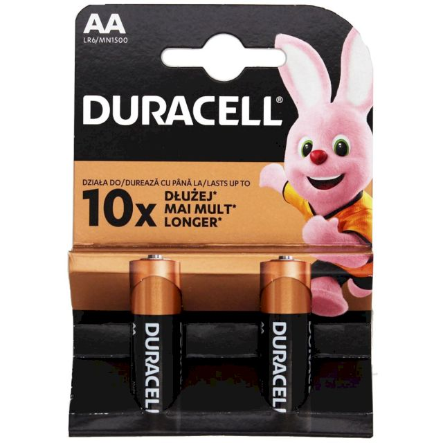 PILES ALCALINES BASIC LR6 AA MN1500 BL2 DURACELL