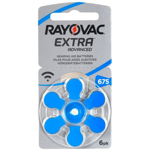 PILES AUDITIVES 675 EXTRA 1.4V 640mAh RAYOVAC