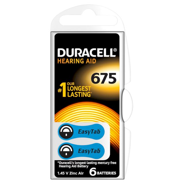 PILES 675 AUDITIVES PR44 1.45V 610mAh BL6 DURACELL